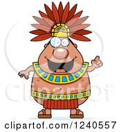 Smart Aztec Chief King With An Idea
