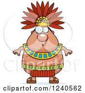 Clipart Of A Surprised Gasping Aztec Chief King Royalty Free Vector Illustration by Cory Thoman