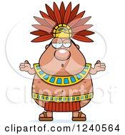 Careless Shrugging Aztec Chief King