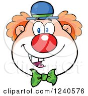 Clipart Of A Happy Clown Face Royalty Free Vector Illustration by Hit Toon