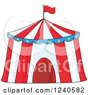 Clipart Of A Big Top Circus Tent Royalty Free Vector Illustration by Hit Toon