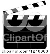 Black And White Filming Clapper Board