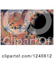 Clipart Of A Mandelbrot Fractal Background Royalty Free Illustration