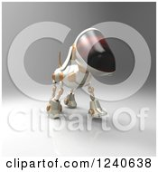 Clipart Of A 3d Robot Dog Walking Royalty Free Illustration by Julos