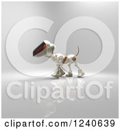 Clipart Of A 3d Robot Dog Walking 3 Royalty Free Illustration by Julos