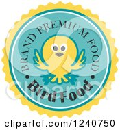 Clipart Of A Brand Premium Bird Food Label Royalty Free Vector Illustration by Vector Tradition SM