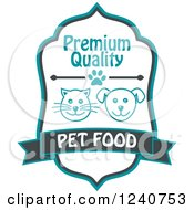 Clipart Of A Cat And Dog Pet Food Label Royalty Free Vector Illustration by Vector Tradition SM