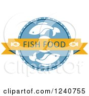 Clipart Of A Fish Food Label Royalty Free Vector Illustration