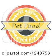 Clipart Of A Fish And Dog Bone Pet Food Label Royalty Free Vector Illustration by Vector Tradition SM