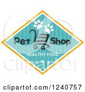 Clipart Of A Healthy Food Pet Shop Label Royalty Free Vector Illustration