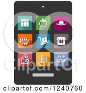 Clipart Of Colorful Shopping Icons Royalty Free Vector Illustration by Vector Tradition SM