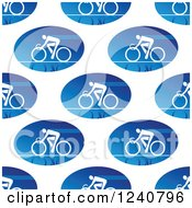 Clipart Of A Seamless Background Pattern Of Cyclists Royalty Free Vector Illustration by Vector Tradition SM