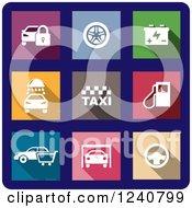 Colorful Automotive Icons
