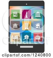 Clipart Of Colorful Architecture Icons Royalty Free Vector Illustration