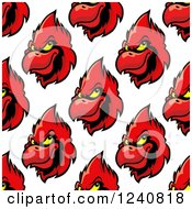 Clipart Of A Seamless Background Pattern Of Cardinals Royalty Free Vector Illustration by Vector Tradition SM