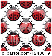 Clipart Of A Seamless Background Pattern Of Ladybugs Royalty Free Vector Illustration by Vector Tradition SM