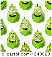 Clipart Of A Seamless Background Pattern Of Pears Royalty Free Vector Illustration