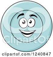 Clipart Of A Happy Plate Character Royalty Free Vector Illustration