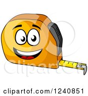 Clipart Of A Happy Tape Measure Royalty Free Vector Illustration