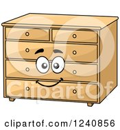 Clipart Of A Happy Dresser Character Royalty Free Vector Illustration