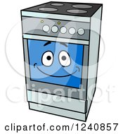 Clipart Of A Happy Oven Range Royalty Free Vector Illustration by Vector Tradition SM