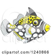 Clipart Of A Clown Triggerfish Royalty Free Vector Illustration