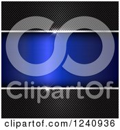 Clipart Of 3d Perforated Metal Panels Framing Blue Text Space With Flares Of Light Royalty Free Vector Illustration by KJ Pargeter