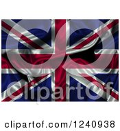 Clipart Of A 3d Crumpled Union Jack Flag Royalty Free Illustration