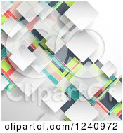 Clipart Of A Colorful Geometric Background Royalty Free Vector Illustration