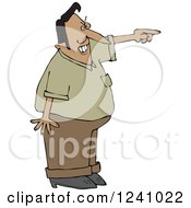 Clipart Of A Mad Indian Man Pointing Royalty Free Vector Illustration