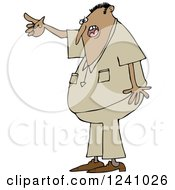 Clipart Of An Angry Indian Man Yelling And Pointing Royalty Free Vector Illustration by djart