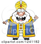 Clipart Of A Chubby Sultan With An Idea Royalty Free Vector Illustration by Cory Thoman
