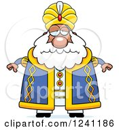 Clipart Of A Depressed Sad Chubby Sultan Royalty Free Vector Illustration by Cory Thoman