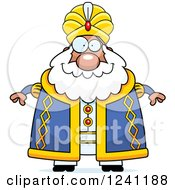 Clipart Of A Happy Chubby Sultan Royalty Free Vector Illustration