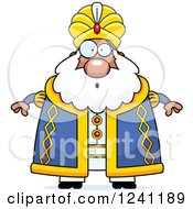 Clipart Of A Surprised Gasping Chubby Sultan Royalty Free Vector Illustration by Cory Thoman