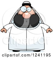 Clipart Of A Surprised Gasping Chubby Sheikh Royalty Free Vector Illustration