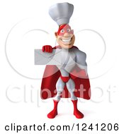 Clipart Of A 3d Male Super Chef Holding An Envelope 4 Royalty Free Illustration