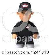 Clipart Of A 3d Sad Male Auto Mechanic 4 Royalty Free Illustration