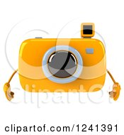Clipart Of A 3d Yellow Camera Character Royalty Free Illustration by Julos