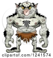 Clipart Of A Grinning Evil Troll Royalty Free Vector Illustration by Cory Thoman
