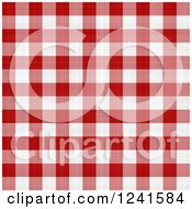 Clipart Of A Seamless Background Pattern Of Red And White Plaid Tablecloth Royalty Free Illustration