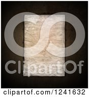 Clipart Of A 3d Sheet Of Vintage Paper On Grunge Royalty Free Illustration