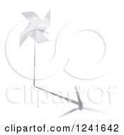 Clipart Of A 3d Windmill With A Turbine Shadow Royalty Free Illustration by Mopic