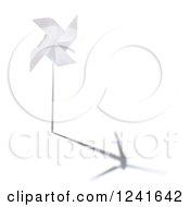 3d Windmill With A Turbine Shadow