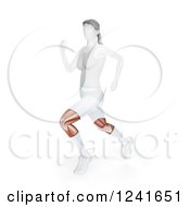 Clipart Of A 3d Feale Runner With Visible Knee Tendons And Muscles Royalty Free Illustration