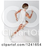 Clipart Of A 3d Runner With Visible Muscle Royalty Free Illustration