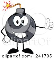 Clipart Of A Happy Bomb Mascot Holding A Thumb Up Royalty Free Vector Illustration by Hit Toon