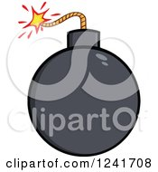 Clipart Of A Lit Bomb Royalty Free Vector Illustration