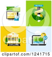 Clipart Of Make Money Icons Royalty Free Vector Illustration