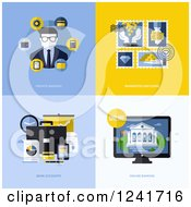 Clipart Of Banking Icons Royalty Free Vector Illustration by elena